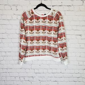 Capmbells tomato soup pullover sweater top